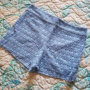 Loft blue lace shorts